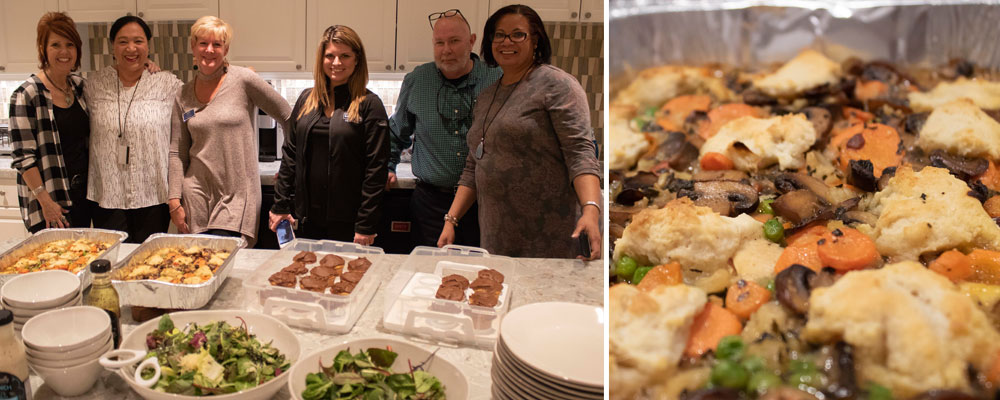 Realtors prepare dinner at Fisher House