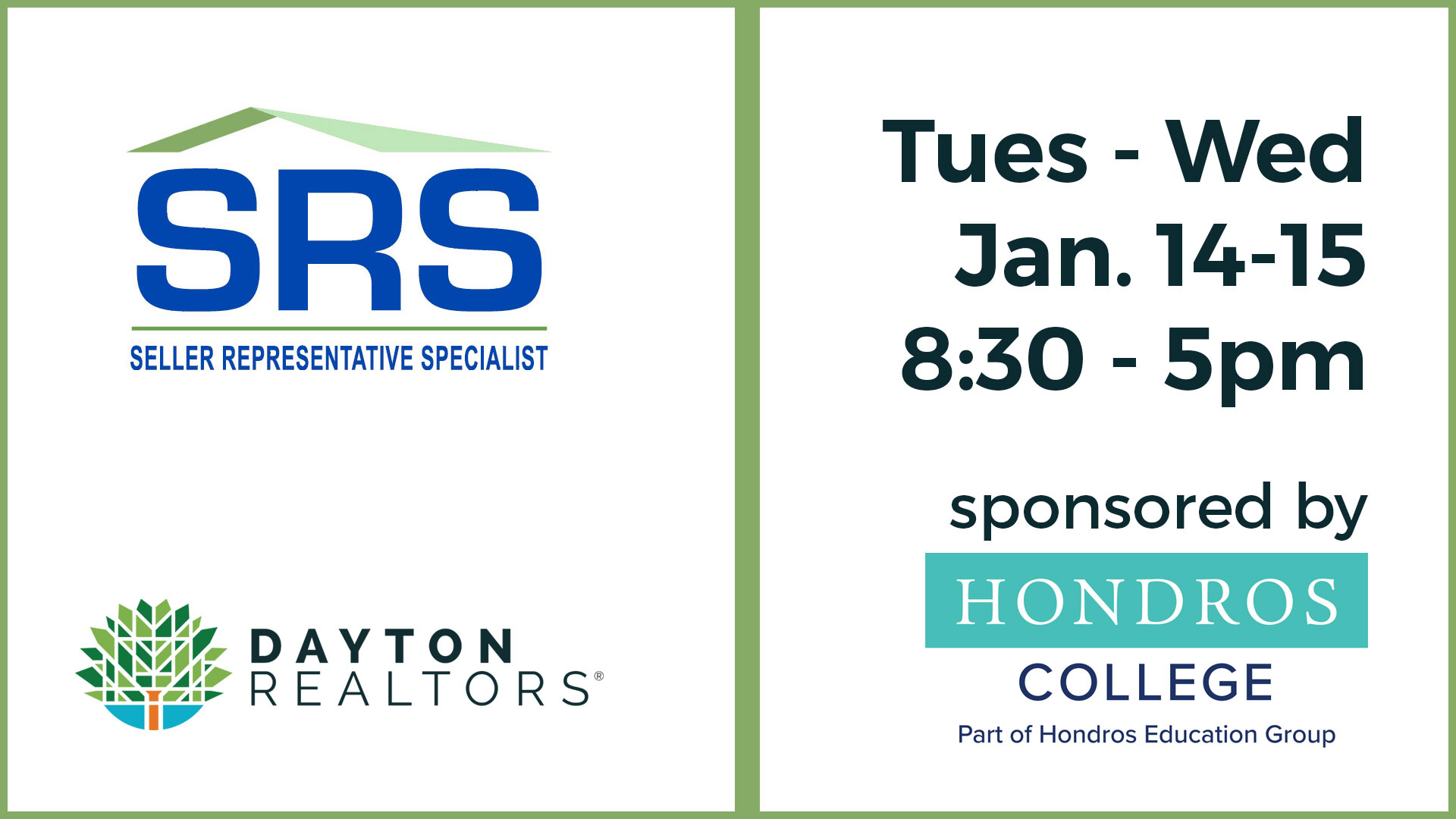 SRS Designation Course, Jan. 14-15