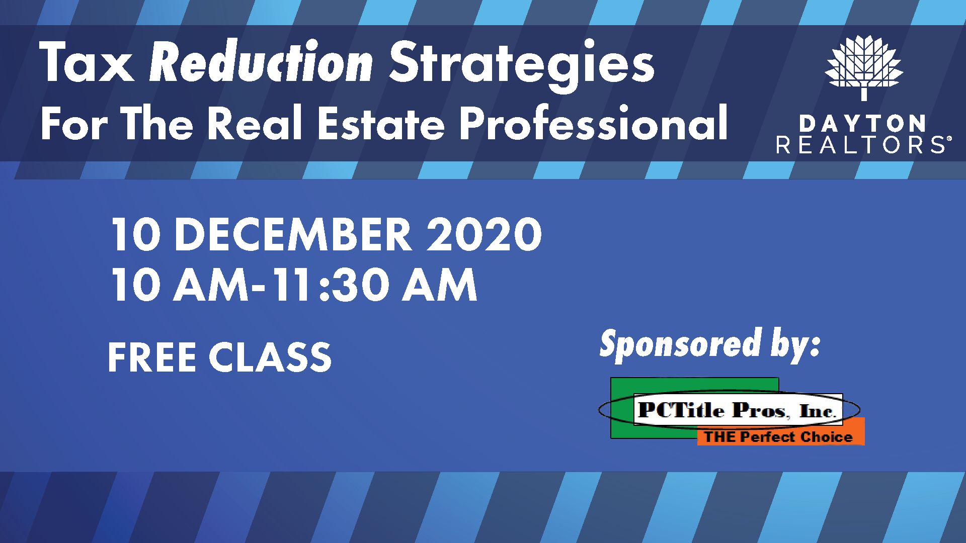 Tax Reduction Strategies, Dec. 10