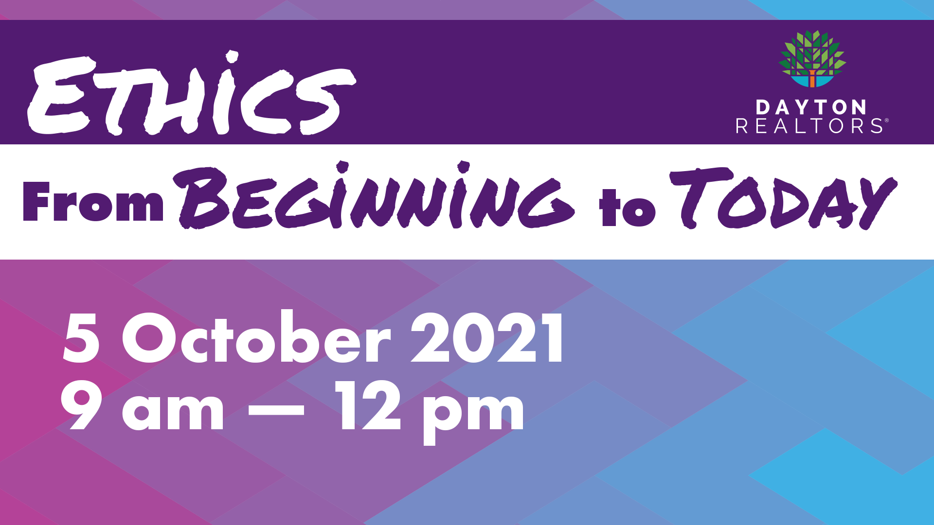 Ethics: From Beginning to Today, Oct. 5